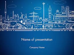 airport powerpoint template free download airport panorama