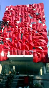 ruby aluminum tessellated facade for boutique in india evolo
