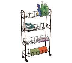 Rolling Bathroom Storage Cart by Slim 4 Tier Rolling Storage Cart Bronze Dorm Storage Solutions