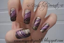 my pretty nailz autumn nail art design