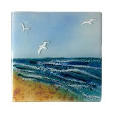 Glass Wall Panels Birds By The Beach Fused Glass Wall Panel Fused Glass