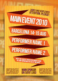 colored event poster template by indieground on deviantart