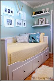 bedroom amazing design ideas using rectangular white wooden wall