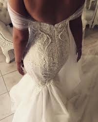 custom made wedding dress george elsissa custom made second wedding dress on sale