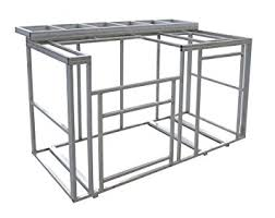 outdoor kitchen island cal 6 outdoor kitchen island frame kit with