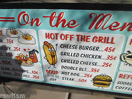 cuisine s 60 on the menu 1950 s 50 s 60 s diner cool retro advertising