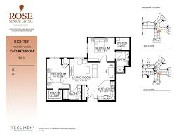 Assisted Living Facility Floor Plans by Our Senior Lifestyle Accommodations In Clinton Twp Michigan