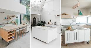 modern kitchen island 8 exles of kitchens with movable islands that make it easy to
