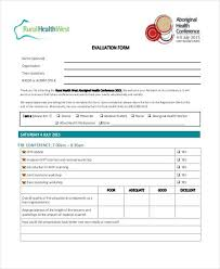 conference evaluation form in word developing training evaluation
