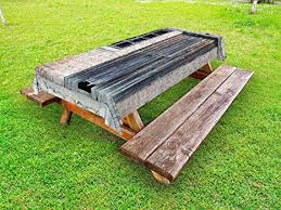 this old house picnic table amazon com lunarable street outdoor tablecloth old abandoned house