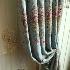 Black Out Curtain Fabric Luxury European Style Chenille Thick Fabric Blackout Curtain Buy