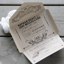 seal and send wedding invitations self mailing kraft wedding invitation open me softly