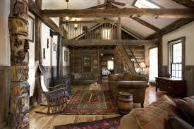 Cheerful Rustic Cabin Decor Homeaway Log Decorating Ideas