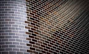 abstract background with chamfered corner of decorative brick
