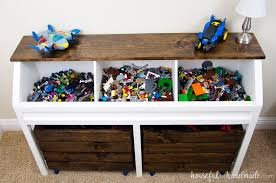 How To Build A Large Toy Box by Toy Storage Console With Rolling Bins Buildsomething Com