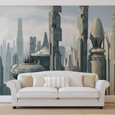 star wars city coruscant wall paper mural buy at europosters price from