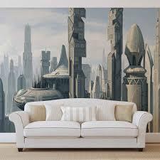 star wars city coruscant wall paper mural buy at europosters original price