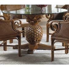 Indoor Wicker Dining Room Chairs Home Design Delightful Pineapple Dining Table Wicker Chairs