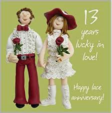 13th anniversary gifts for him our 13th wedding anniversary gift set card keyring fridge