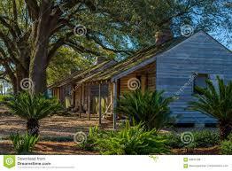 slave houses oak alley plantation stock photo image 90643189