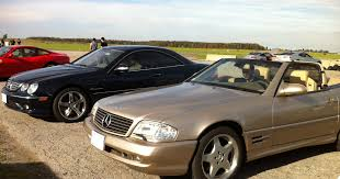 track day with mercedes cl55 amg w215 and sl500 r129 youtube