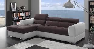 canapé cuir et tissu menton angle méridienne bi matière personnalisable sur univers du cuir