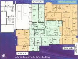 the island times proposed atlantic beach police building floor plan