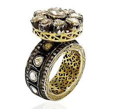 rose style rings images Vintage style diamond rings 2 05 rose cut diamond silver jpg&a