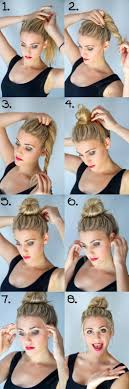 easy messy buns for shoulder length hair 14 simple hair bun tutorial to keep you look chic in lazy days