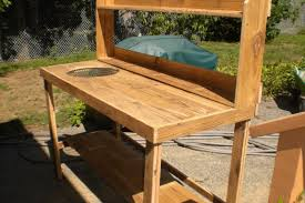 bench pallet potting bench with sink outdoor potting bench