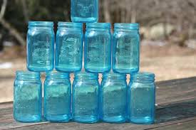 Mason Jar Wedding Centerpieces Free Ship 12 Blue Mason Jars Wedding Jars 7 Inch Vintage Wedding