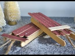how to make popsicle stick sleigh ornaments
