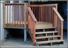 deck stair railing post attachment decks home decorating ideas