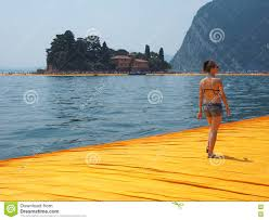 Floating Piers by The Floating Piers In Lake Iseo Editorial Photography Image