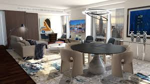 roche bobois aqua table langham place new york x roche bobois a french accent out there