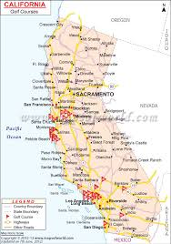 california map of major cities golf courses map