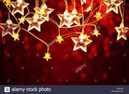 closeup of christmas star lights stock photo royalty free image