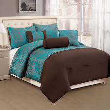 decorative comforter set blue