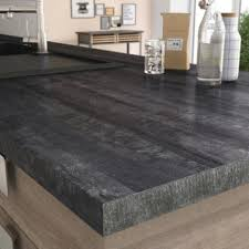 cuisine plan de travail bois plan de travail stratifié bois inox au meilleur prix leroy merlin