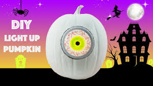 diy halloween decoration light up pumpkin creepy eyeball youtube