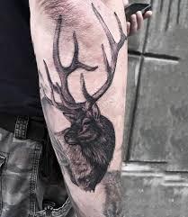 grey deer on arm sleeve