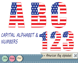 american flag alphabet clipart stars and stripes letters