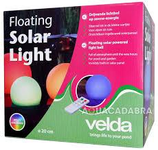 Floating Solar Pond Lights - velda solar powered floating ball multi coloured light outdoor