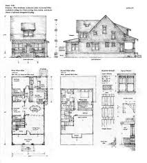 Floor Plan Elevations by Sears Homes 19081914 Craftsman Bungalow Floor Plans Crtable
