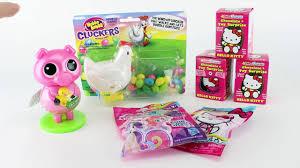 kitty surprise eggs blind bags pooper toys video