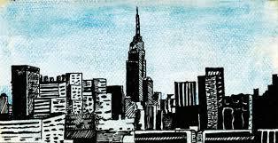 new york skyline sketches
