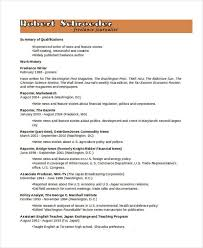 Freelance Writer Resume Sample by 8 Journalist Resume Free Sample Example Format Download Free