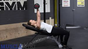 Incline Dumbell Bench Press Chest Musclewiki