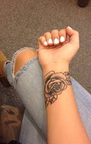 small black rose wrist arm tattoo mybodiart com art