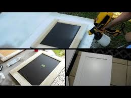 Spray Paint For Kitchen Cabinets Spray Painting Kitchen Cabinet Doors D Finally Youtube